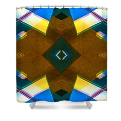 Poetry Foundation Library N86 V2 Shower Curtain by Raymond Kunst