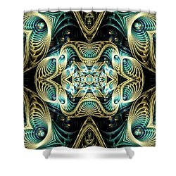 Poetry In Motion Shower Curtain by Lea Wiggins