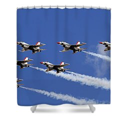Poetry In The Sky Shower Curtain by Donna Kennedy