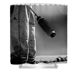 Poetry Pants And Flamethrower  Shower Curtain by Bob Orsillo