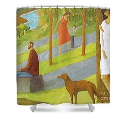 Poets Hill Shower Curtain