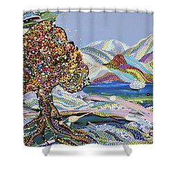 Poet's Lake Shower Curtain