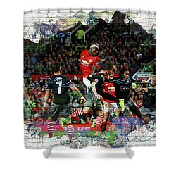 Pogba Street Art Shower Curtain