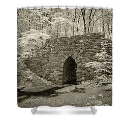 Shower Curtain featuring the photograph Poinsett Bridge-ir-3 by Joye Ardyn Durham