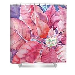 Poinsettia Glory Shower Curtain