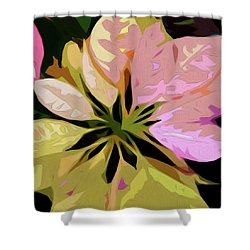 Poinsettia Tile Shower Curtain