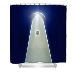 Shower Curtain featuring the digital art Point Arena Lighthouse by Holly Ethan