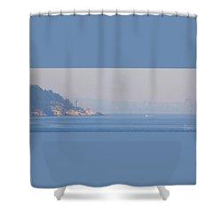 Point Atkinson Haze Shower Curtain