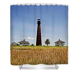 Point Bolivar Lighthouse Shower Curtain by Scott Pellegrin