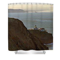 Point Bonita Lighthouse In San Francisco Shower Curtain