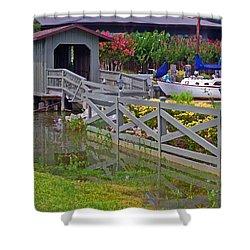 Point Clear Bridge At Grand Hotel Shower Curtain