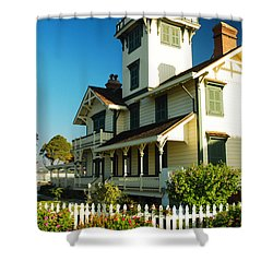 Point Fermin Lighthouse Shower Curtain