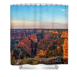 Point Imperial Sunrise Panorama II Shower Curtain