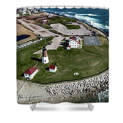 Point Judith Easter Cross Shower Curtain