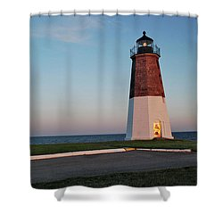 Point Judith Lighthouse Rhode Island Shower Curtain