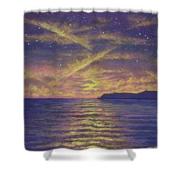 Point Loma Sunset 01 Shower Curtain
