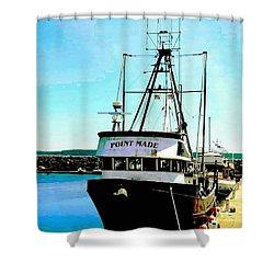 Point Made At Pt Townsend Wa Shower Curtain
