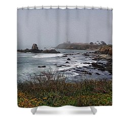 Shower Curtain featuring the photograph Point Montara Lighthouse by David Bearden