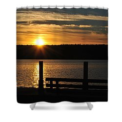 Point Of Interest Shower Curtain