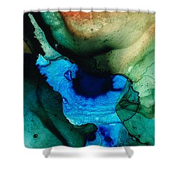 Point Of Power - Abstract Painting By Sharon Cummings Shower Curtain