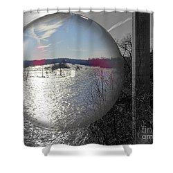 Point Of View Shower Curtain by Melissa Messick