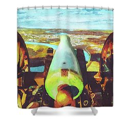 Point Park Cannon Shower Curtain