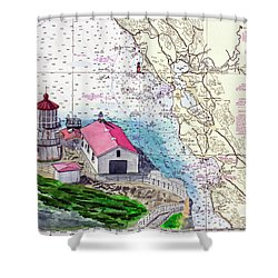 Point Reyes Light Station Shower Curtain by Mike Robles