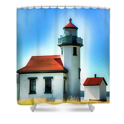 Point Robinson Lighthouse Shower Curtain