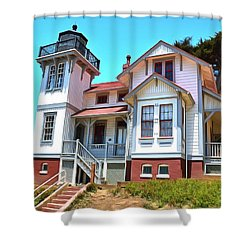 Shower Curtain featuring the photograph Point San Luis Lighthouse by Floyd Snyder