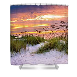 Point Sunrise Shower Curtain