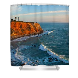 Point Vicente Lighthouse Palos Verdes California Shower Curtain