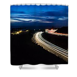 Point Vincente Light Trails Shower Curtain