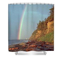 Point Wilson Shower Curtain by Laurie Stewart