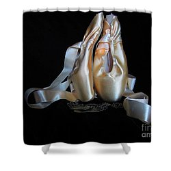 Pointe Shoes And Dog Tags2 Shower Curtain