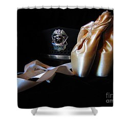 Shower Curtain featuring the photograph Pointe Shoes And Police by Laurianna Taylor