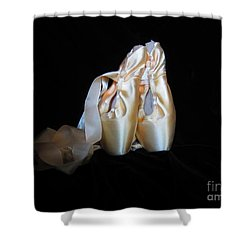 Pointe Shoes3 Shower Curtain by Laurianna Taylor