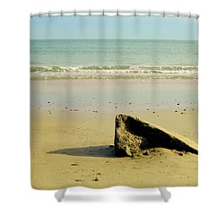 Pointed Rock At Squibby Shower Curtain