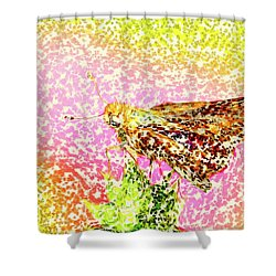 Pointelist Skipper Shower Curtain