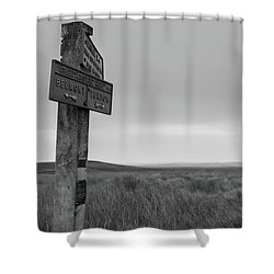 Shower Curtain featuring the photograph Pointing The Way In 1960 by RKAB Works