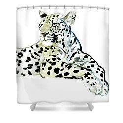 Poise Shower Curtain by Mark Adlington