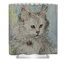Poised Cat Shower Curtain