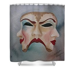 Poison And Wine Shower Curtain