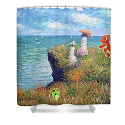 Pokemonet Seaside Shower Curtain