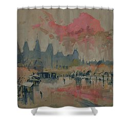 Pokkenweer Museum Square In Amsterdam Shower Curtain