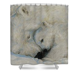 Polar Snuggle Shower Curtain