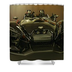 Polaris Slingshot Shower Curtain by Robert Hebert
