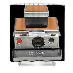 Polaroid Sx-70 Land Camera Shower Curtain by Brian Duram