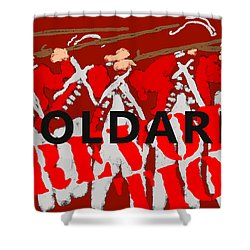 Poldark Revolution In Red Shower Curtain