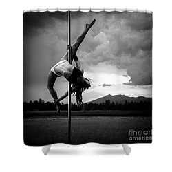 Pole Dance 1 Shower Curtain