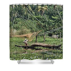 Pole Position Shower Curtain by Marion Galt
